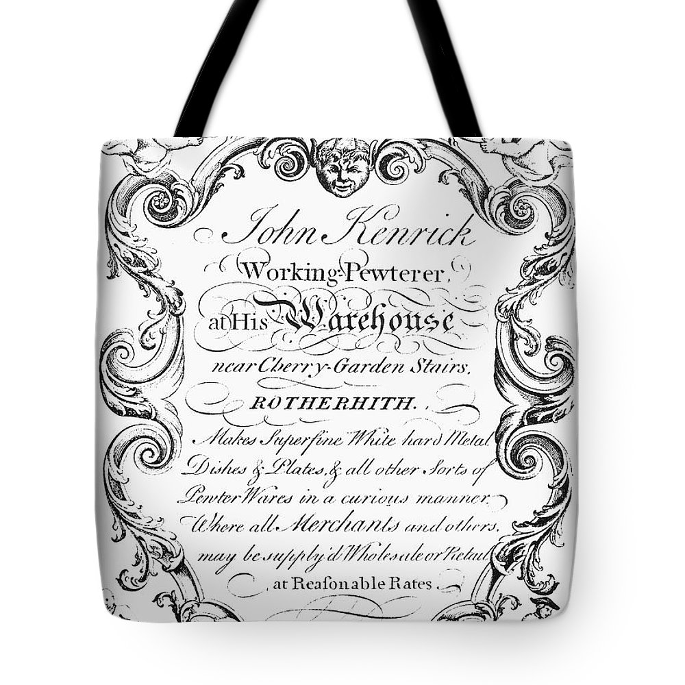 18th Century Tote Bag featuring the photograph Pewterware, 18th Century by Granger