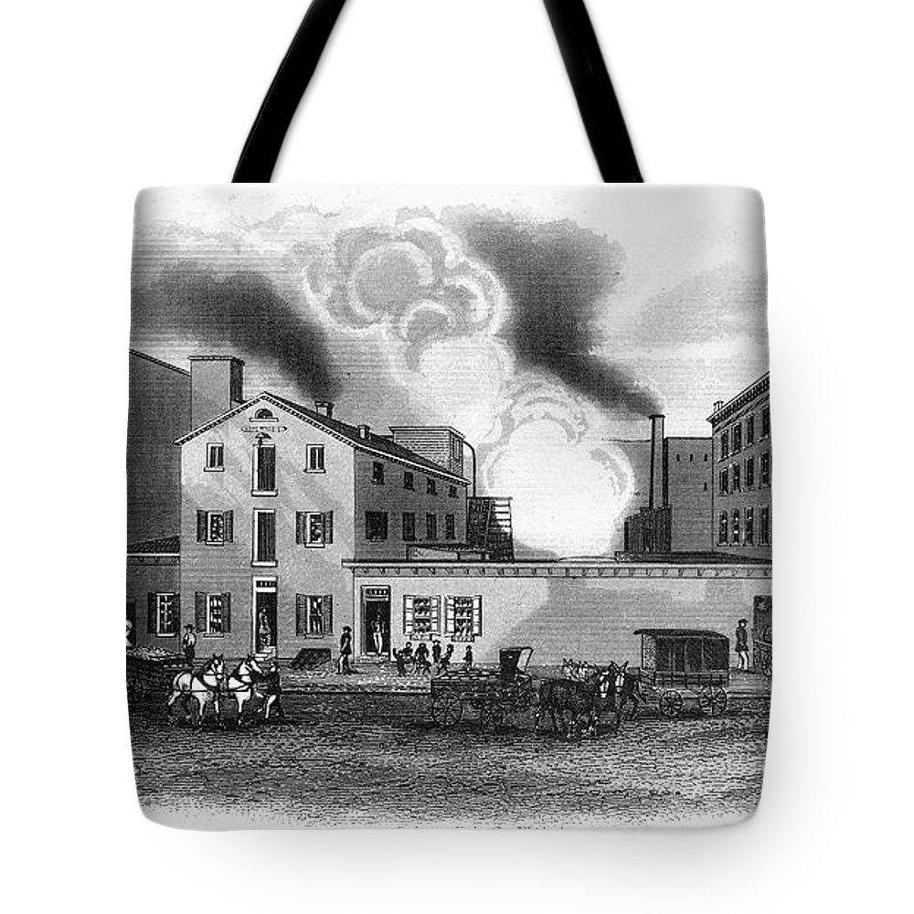 1860s Tote Bag featuring the photograph Philadelphia: Distillery by Granger