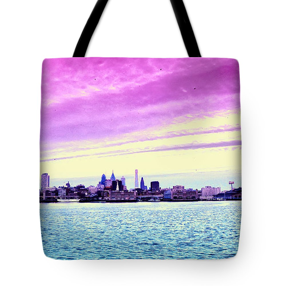 Philadelphia Morning View Tote Bag featuring the photograph Philadelphia Morning View by Bill Cannon