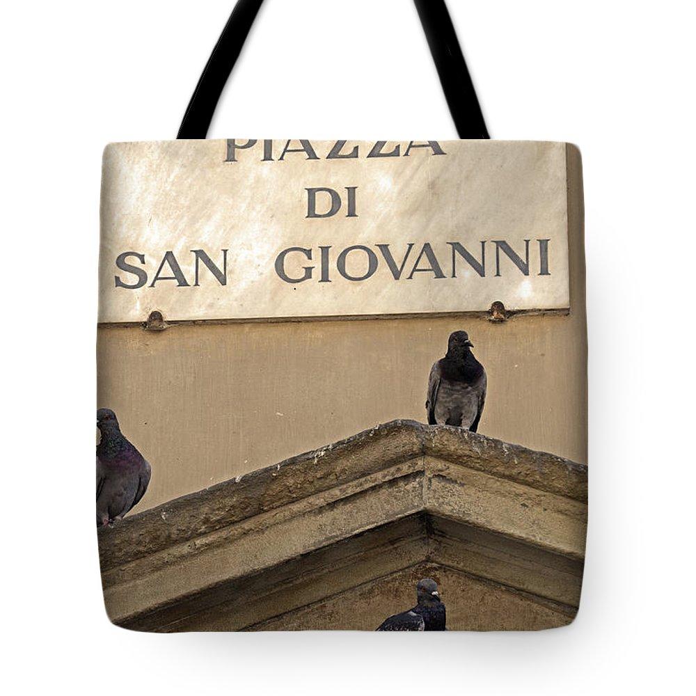 Italia Tote Bag featuring the photograph Piazza by La Dolce Vita