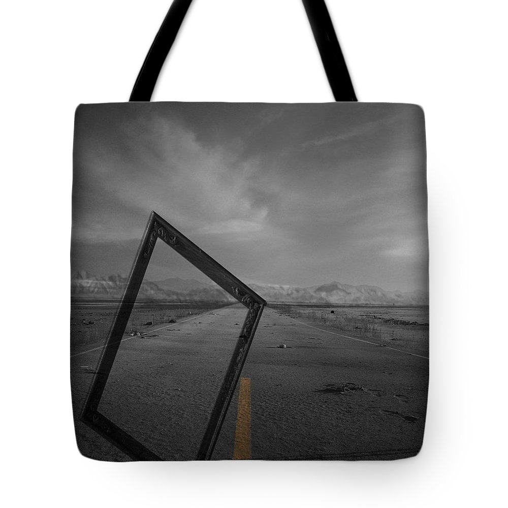 Jerry Cordeiro Tote Bag featuring the photograph Picturing The Road Ahead by The Artist Project