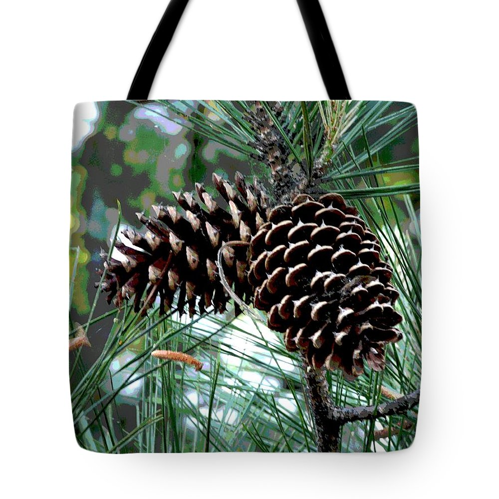 Photo Tote Bag featuring the photograph Pine Cone 2 by Mark Moore