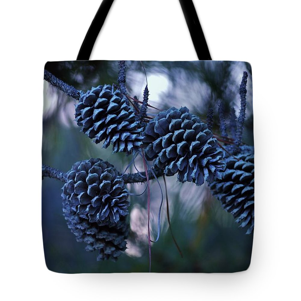 Tree Tote Bag featuring the photograph Pine Cones by William Bartholomew