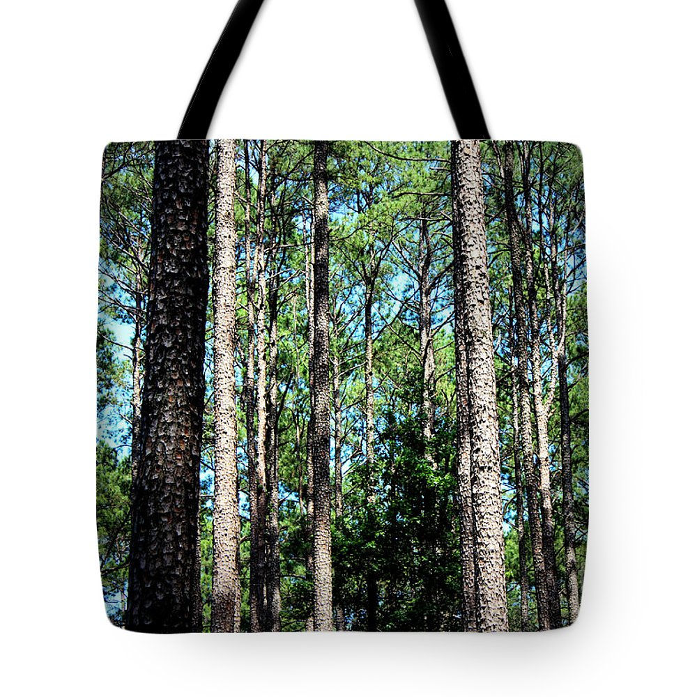 Pine Trees Tote Bag featuring the photograph Pine Patch by Kathy White