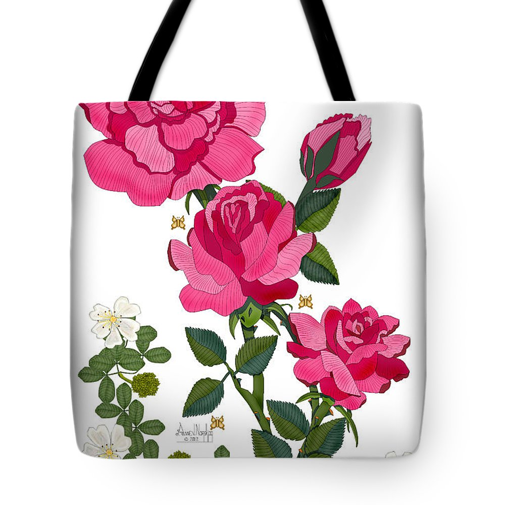 Anne Norskog Tote Bag featuring the painting Ping by Anne Norskog