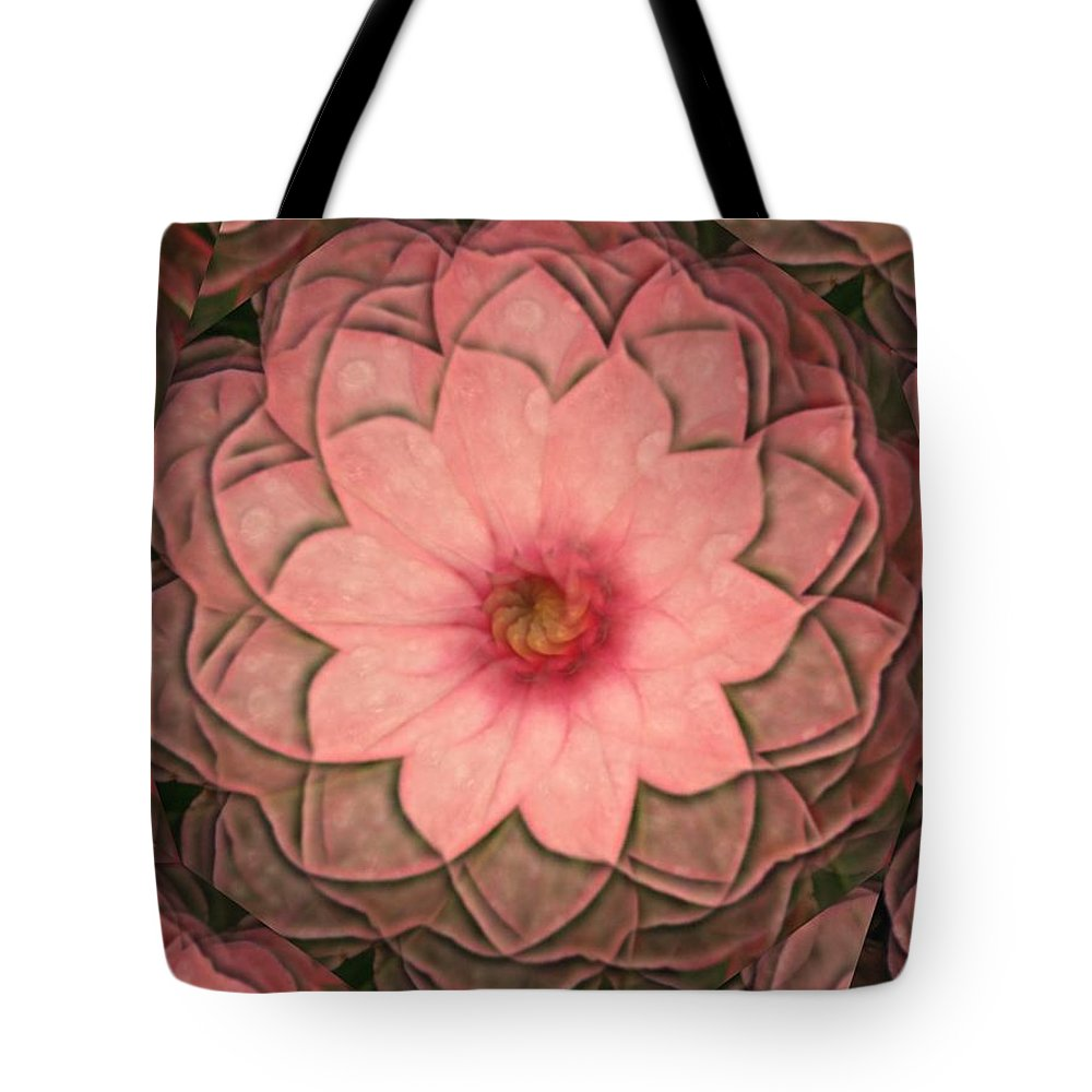 Pink Tote Bag featuring the digital art Pink Delight by Rhonda Barrett
