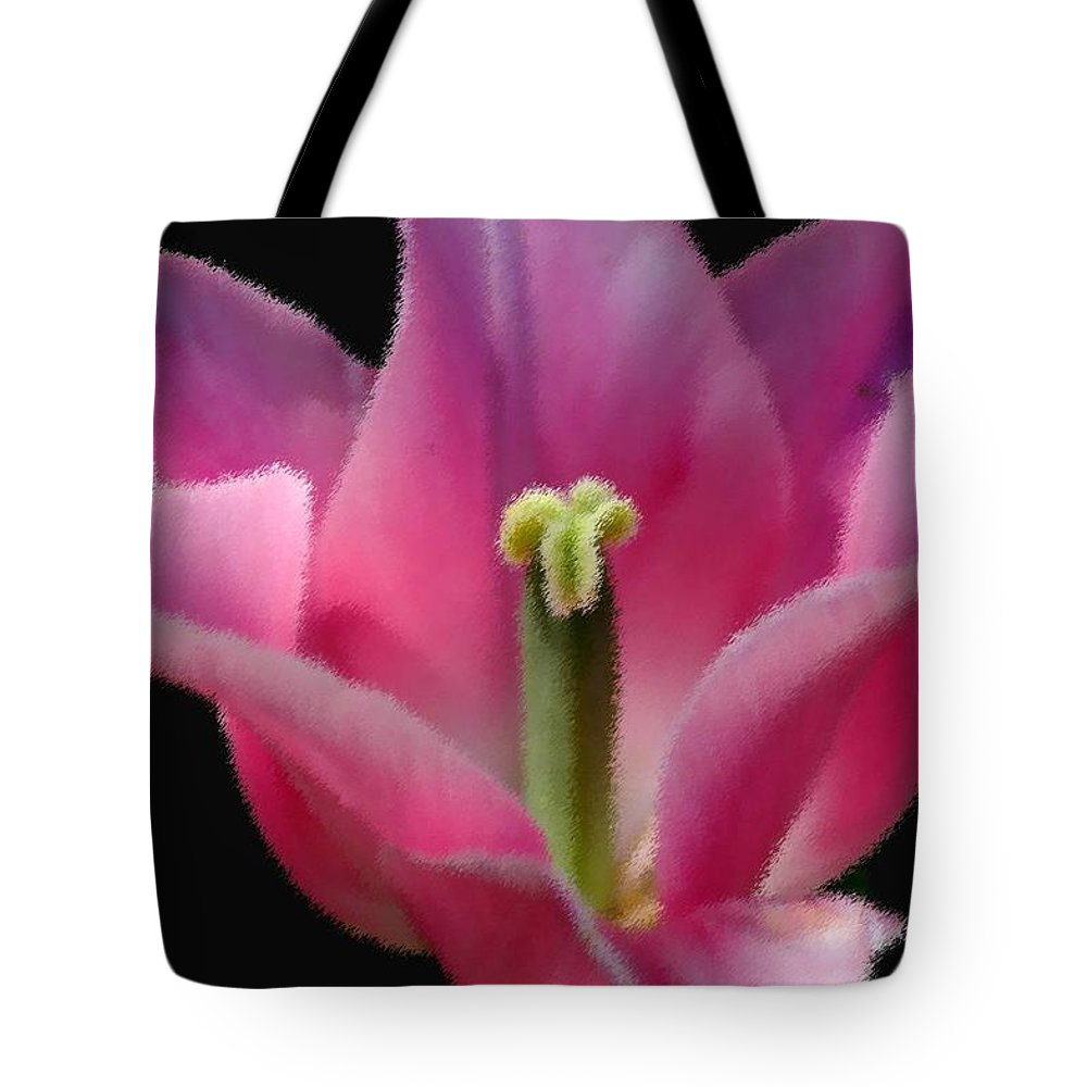Digital Designs Tote Bag featuring the photograph Pink Flower by Mark Gilman