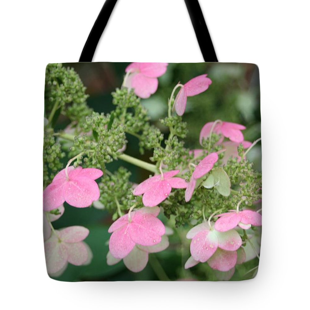 Pink Lace Tote Bag featuring the photograph Pink Lace by Barbara S Nickerson