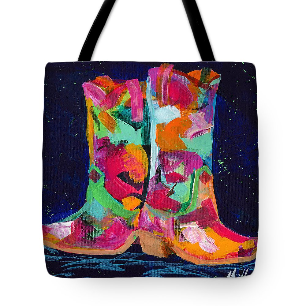 Tracy Miller Tote Bag featuring the painting Pink Pull Ups by Tracy Miller