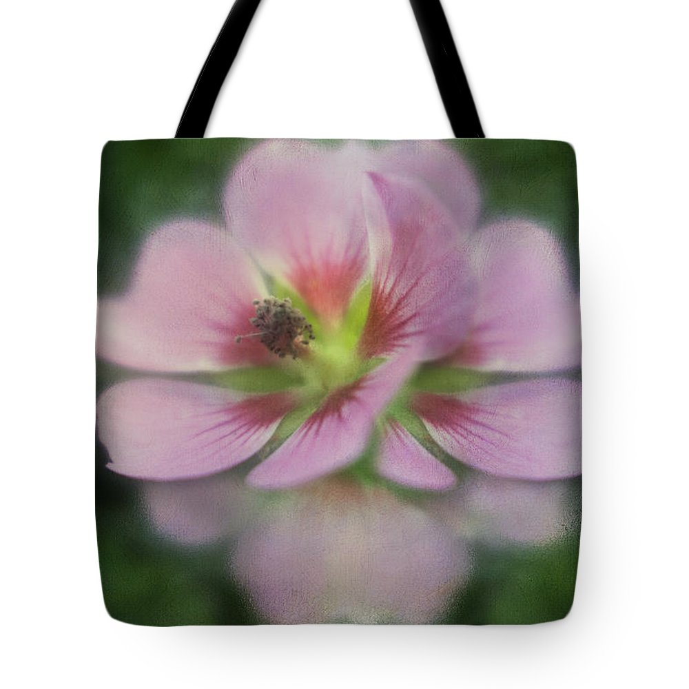 Flower Tote Bag featuring the digital art Pink Reflection by Diane Dugas