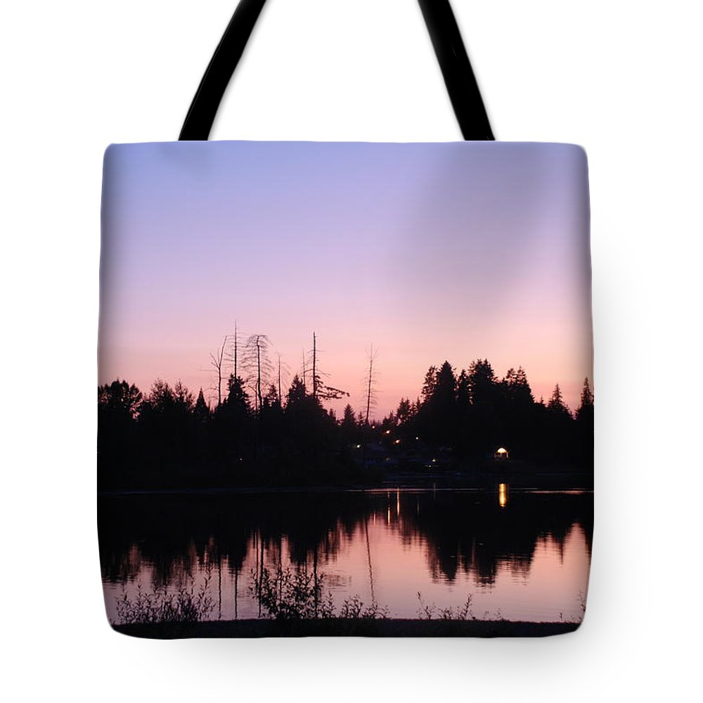 Pink Tote Bag featuring the photograph Pink Sky At Night by Michael Merry