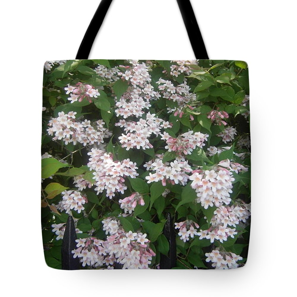 Soft Pink Flowers Tote Bag featuring the photograph Pink Softly by Gwen Baptiste