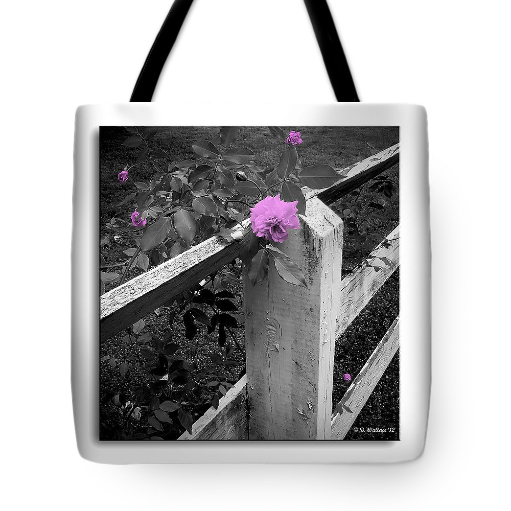 2d Tote Bag featuring the photograph Pink Touch by Brian Wallace