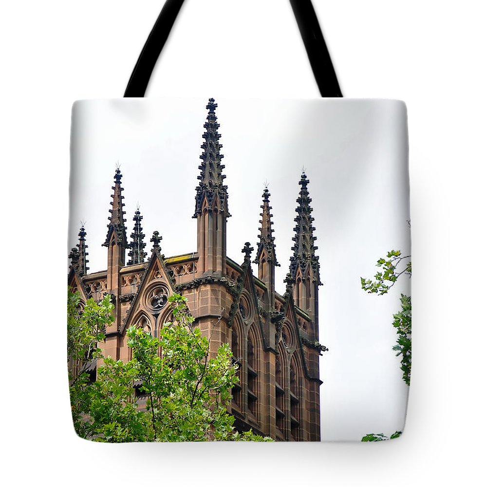 Photography Tote Bag featuring the photograph Pinnacles Of St. Mary's Cathedral - Sydney by Kaye Menner