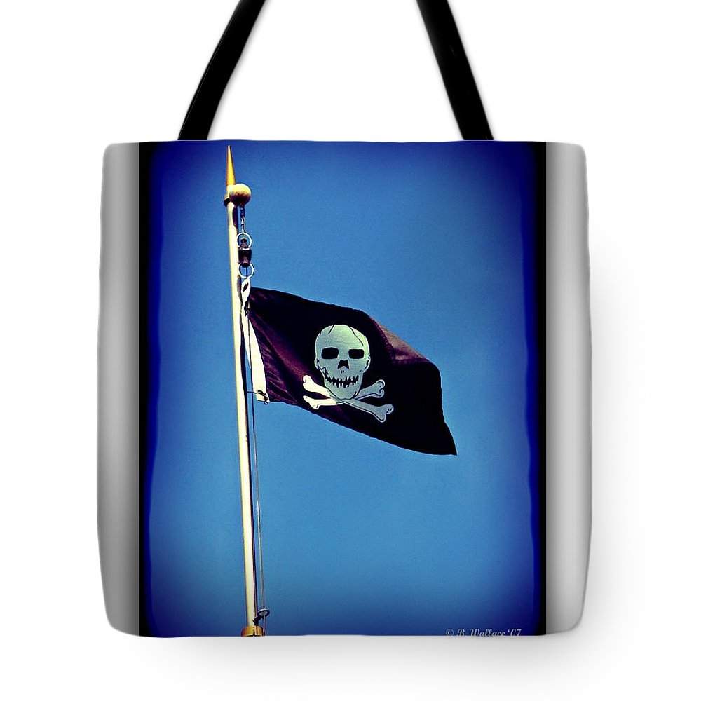 2d Tote Bag featuring the photograph Pirate Flag by Brian Wallace