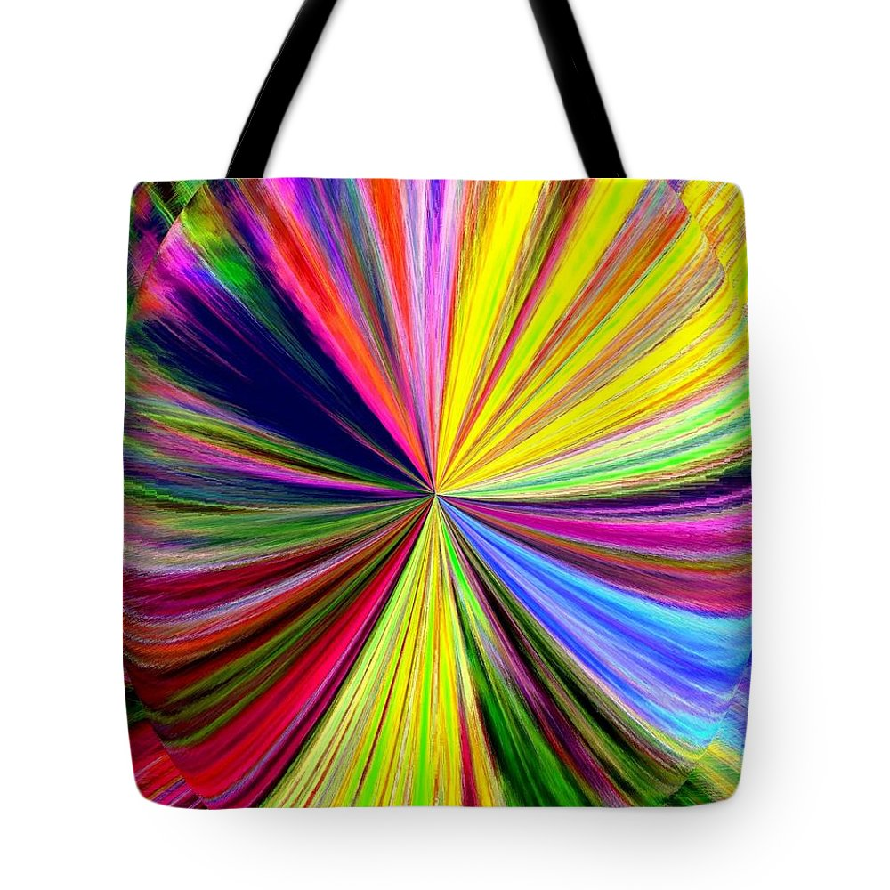 Abstract Tote Bag featuring the digital art Pizzazz 39 by Will Borden