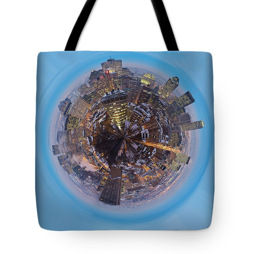 Wee Planet Tote Bag featuring the photograph Planet Wee Montreal Quebec by Nikki Marie Smith
