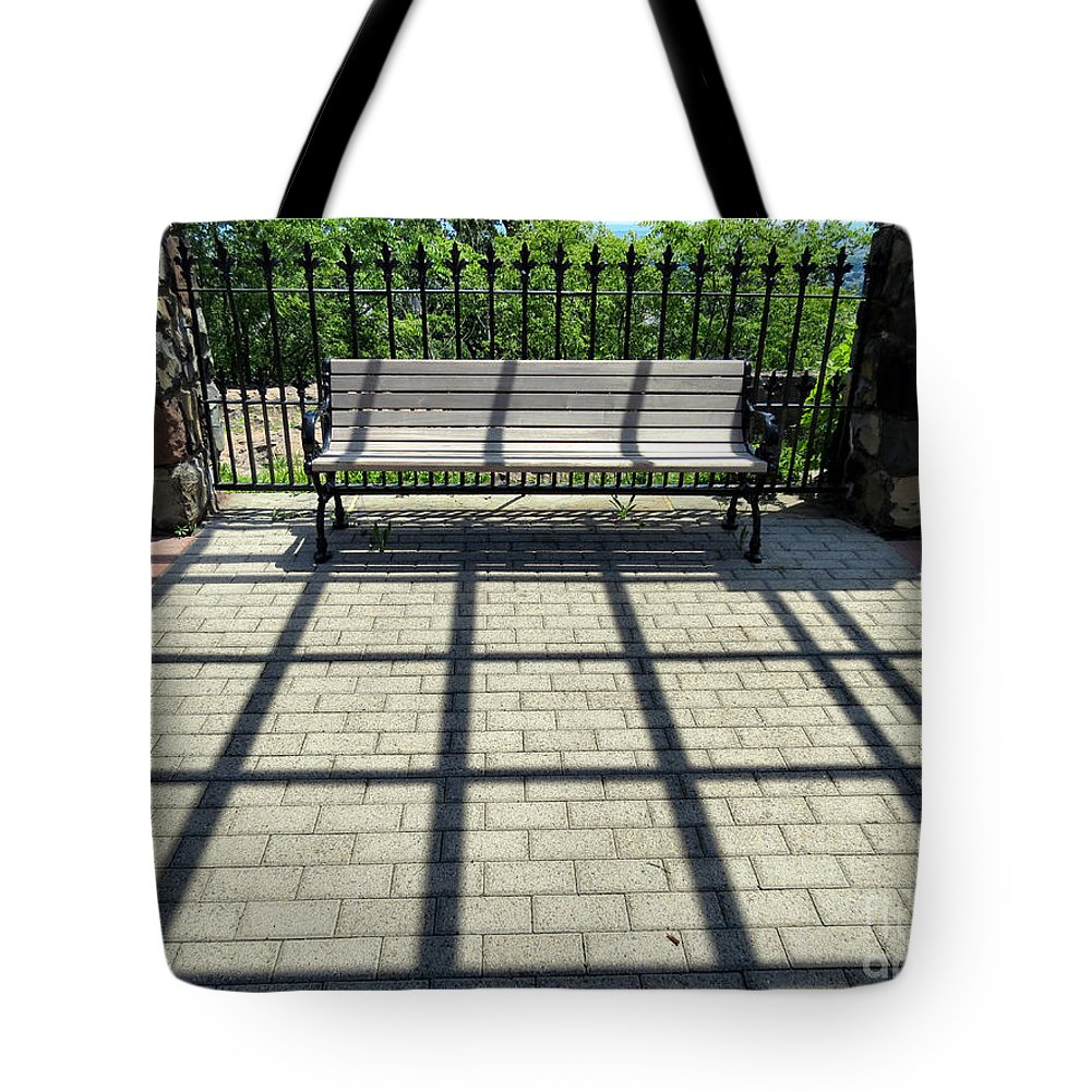 Castle Tote Bag featuring the photograph Play Of Shadows by Art Dingo