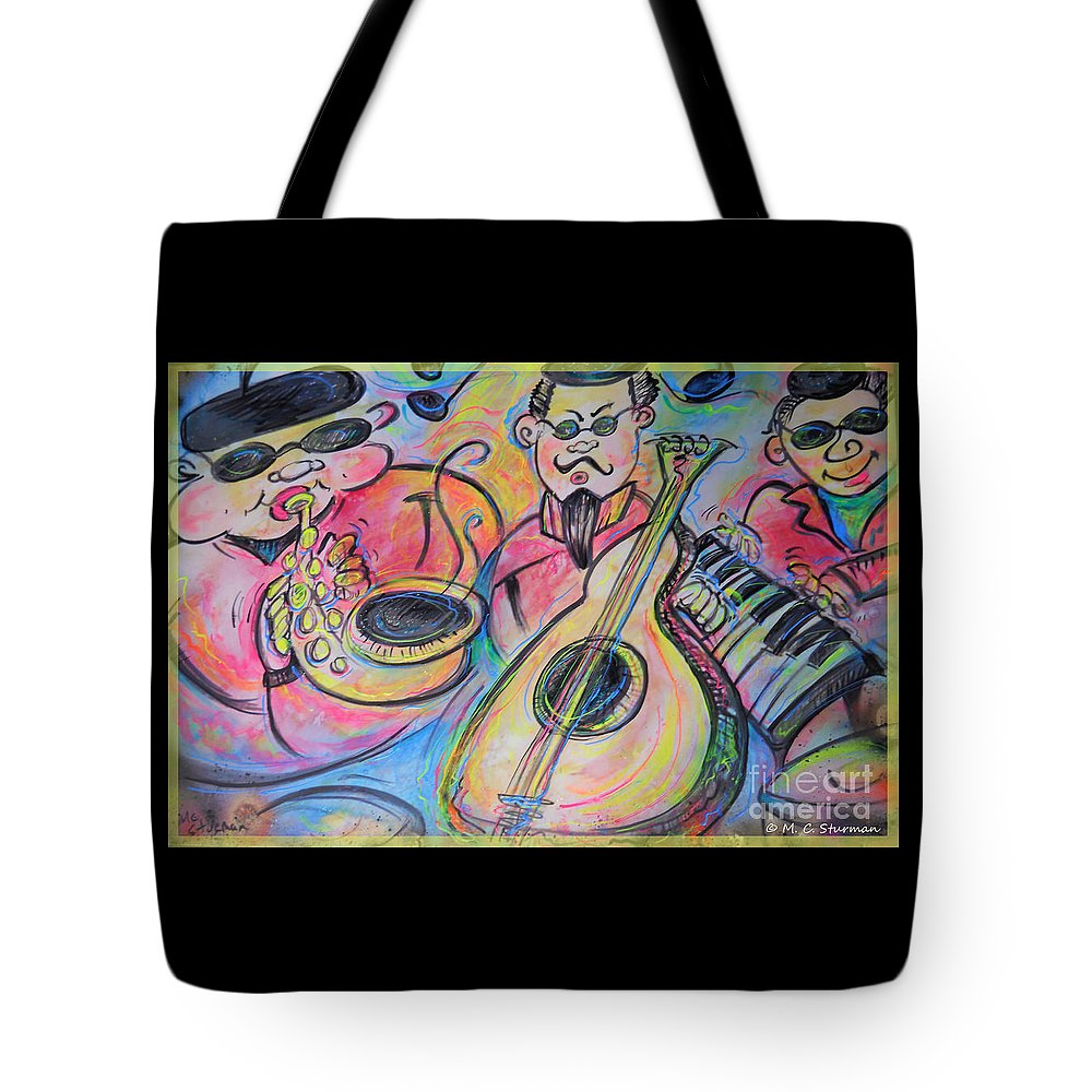 Blues Tote Bag featuring the painting Play The Blues by M c Sturman