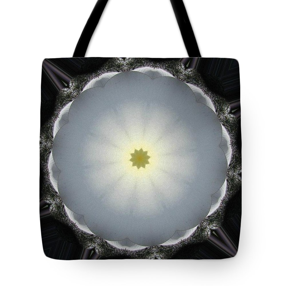 Digital Design Tote Bag featuring the photograph Plumeria 5 by Mark Gilman