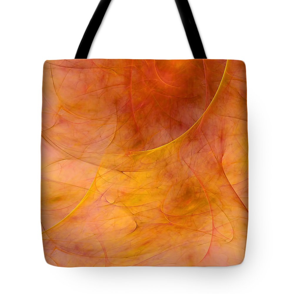 Abstract Tote Bag featuring the digital art Poetic Emotions Abstract Expressionism by Georgiana Romanovna