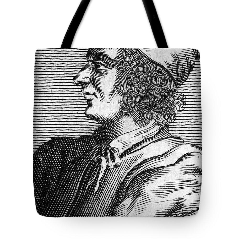 15th Century Tote Bag featuring the photograph Poggio Bracciolini by Granger