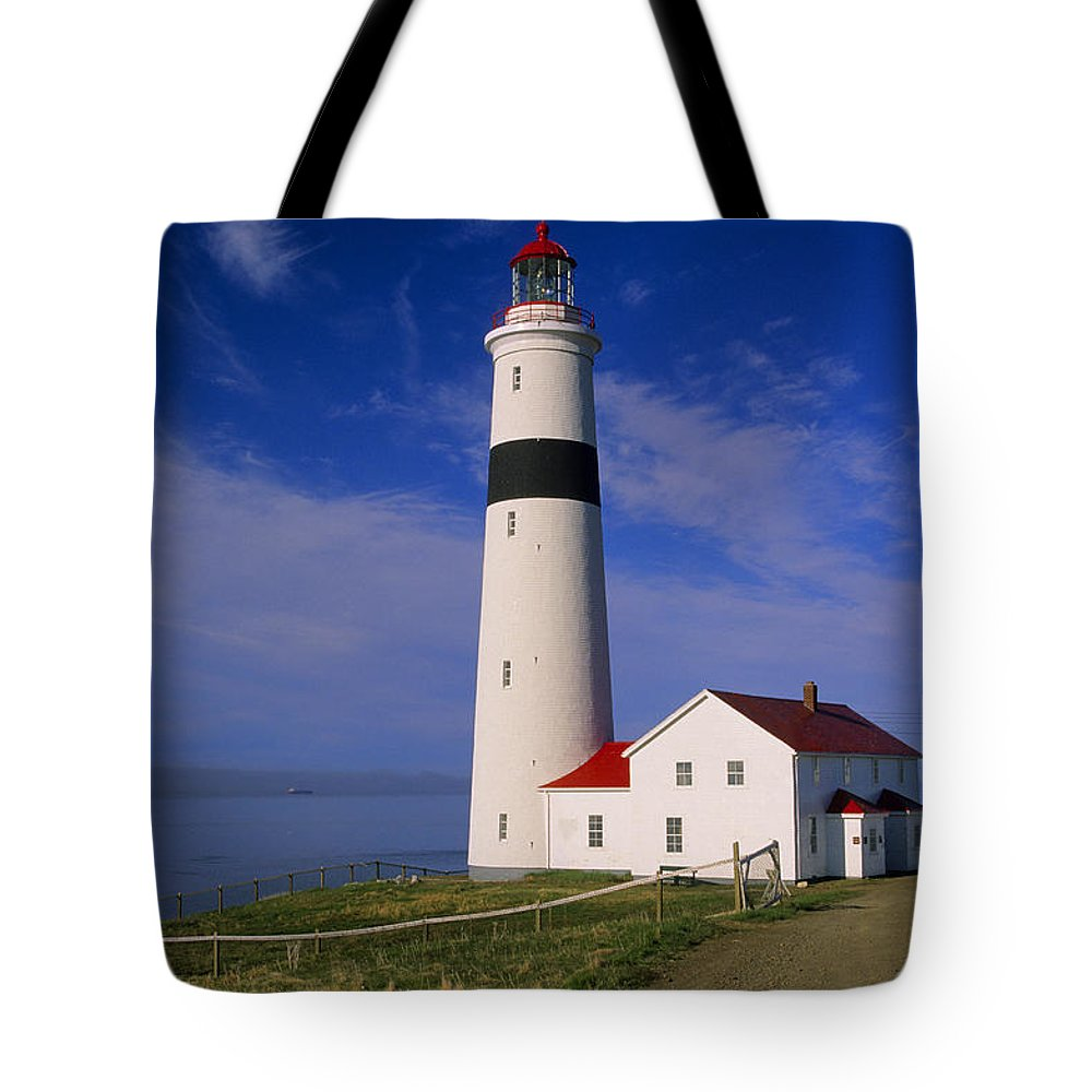 Coastal Tote Bag featuring the photograph Point Lamour Lighthouse Overlooking by John Sylvester