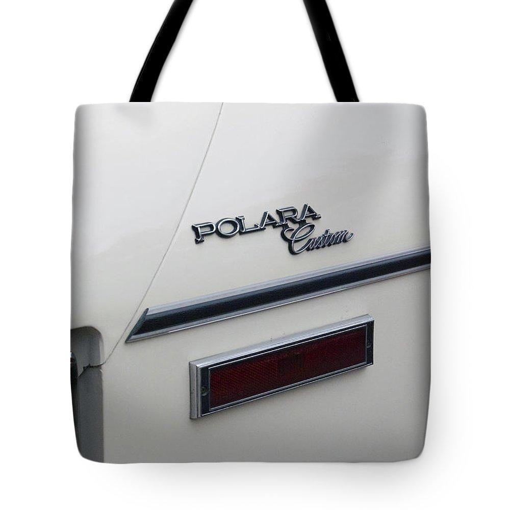 Transportation Tote Bag featuring the photograph Polara Custom Emblem by Thomas Woolworth