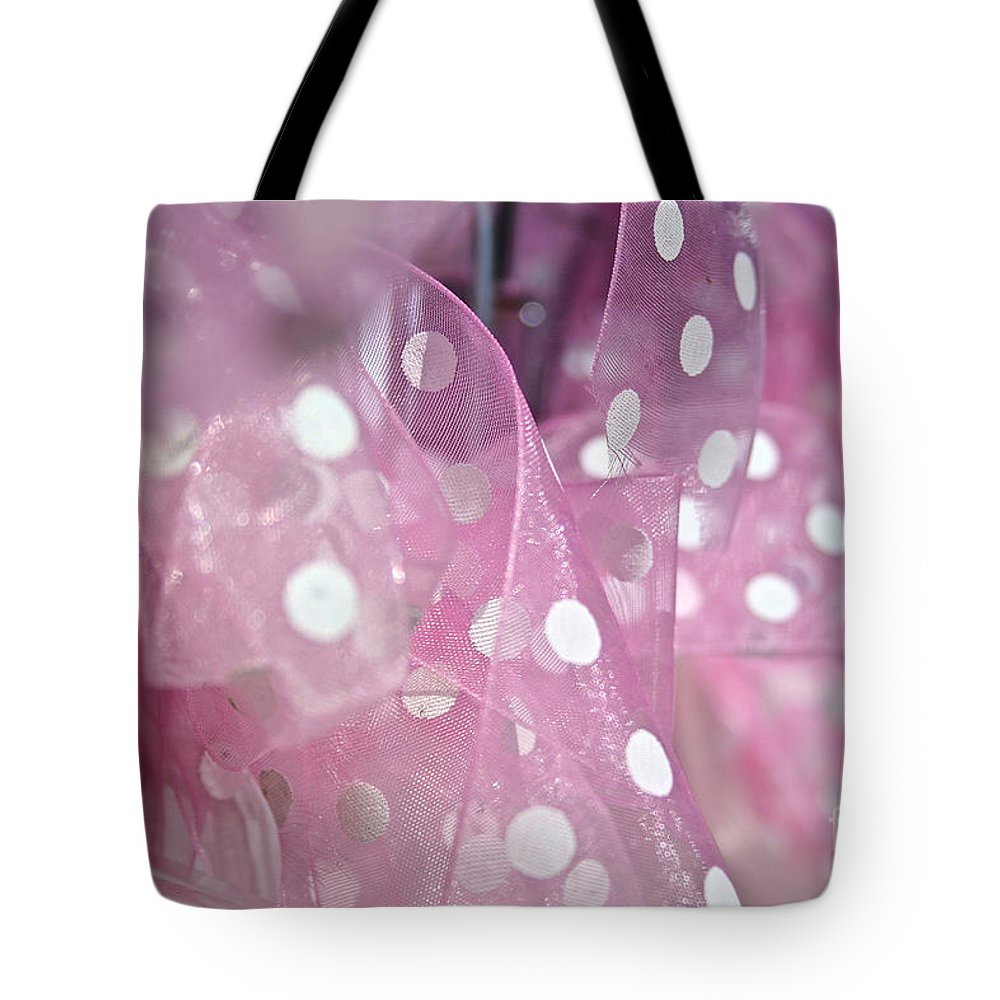 Silk Tote Bag featuring the photograph Polka Dots by Susan Herber