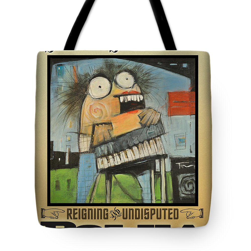 Polka Tote Bag featuring the painting Polka Queen Poster by Tim Nyberg