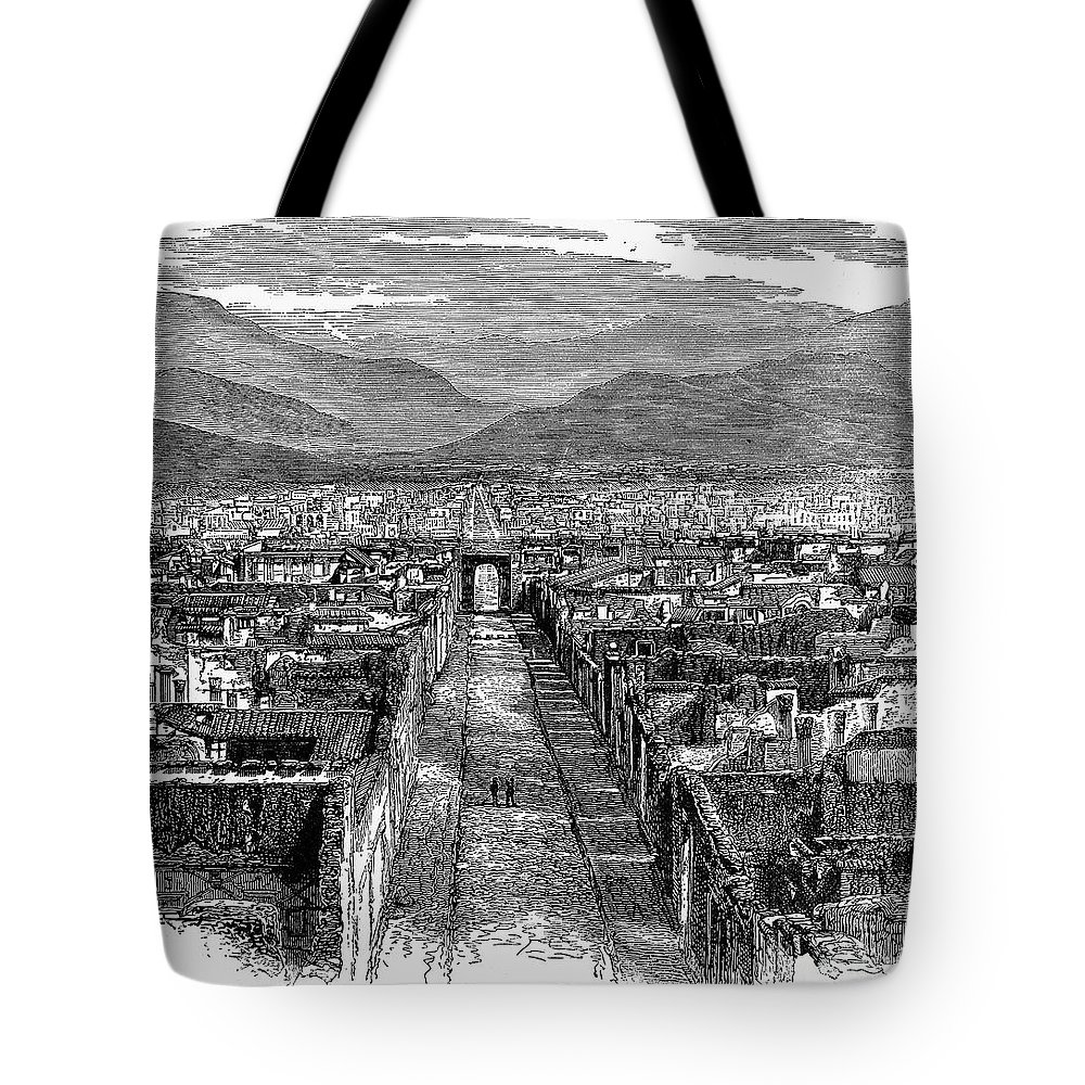1880 Tote Bag featuring the photograph Pompeii: Ruins, C1880 by Granger