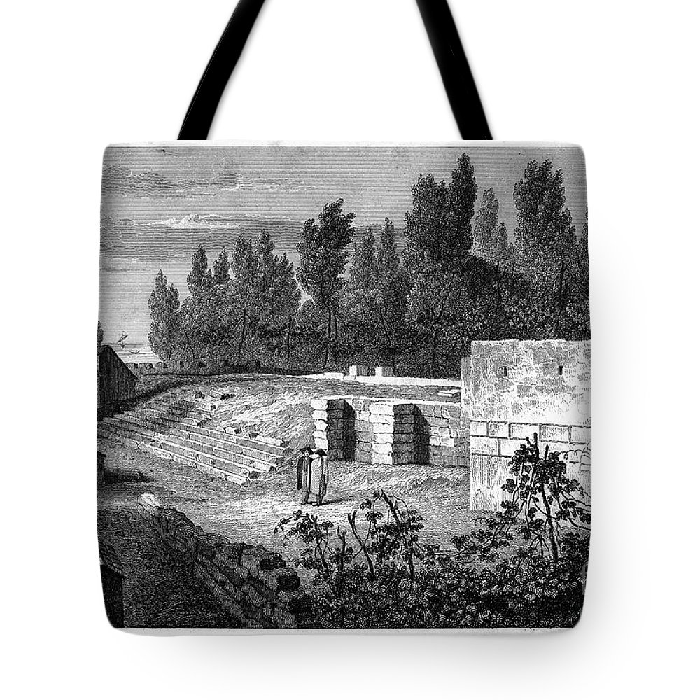 1830 Tote Bag featuring the photograph Pompeii: Stairs, C1830 by Granger