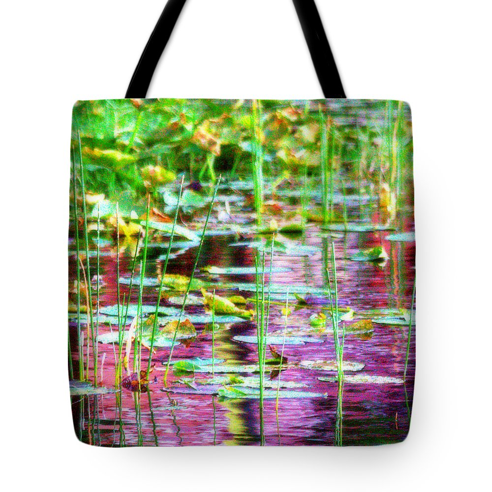 Water Tote Bag featuring the photograph Pond In Purple by Jacob Klaus