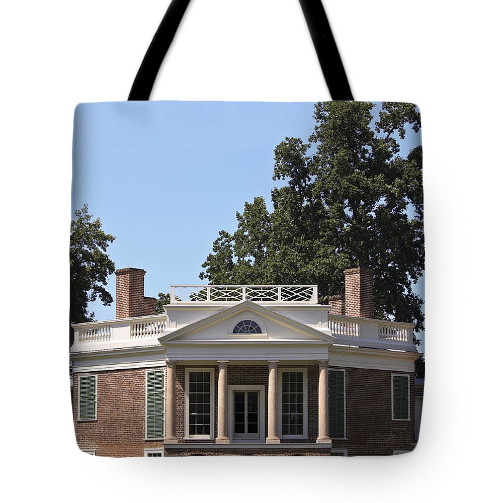 Poplar Forest Tote Bag featuring the photograph Poplar Forest From The Lawn by Teresa Mucha