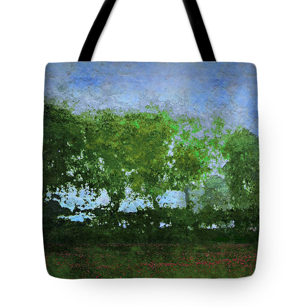 Landscape Tote Bag featuring the digital art Poppies by Ron Jones