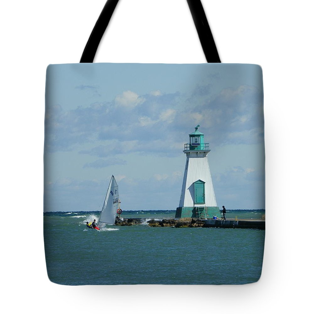 Lighthouse Tote Bag featuring the photograph Port Dalhousie Lighthouse by Peggy King