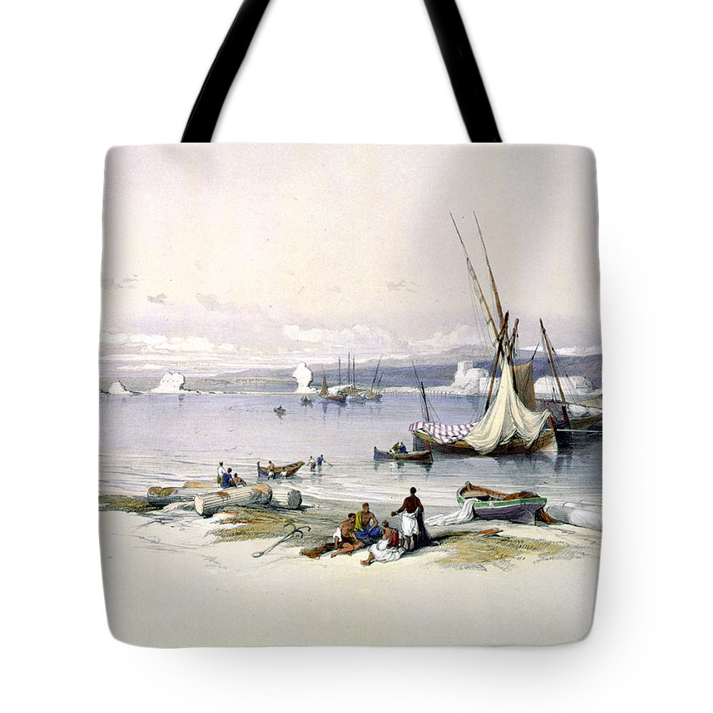 Tyre Tote Bag featuring the photograph Port Of Tyre by Munir Alawi