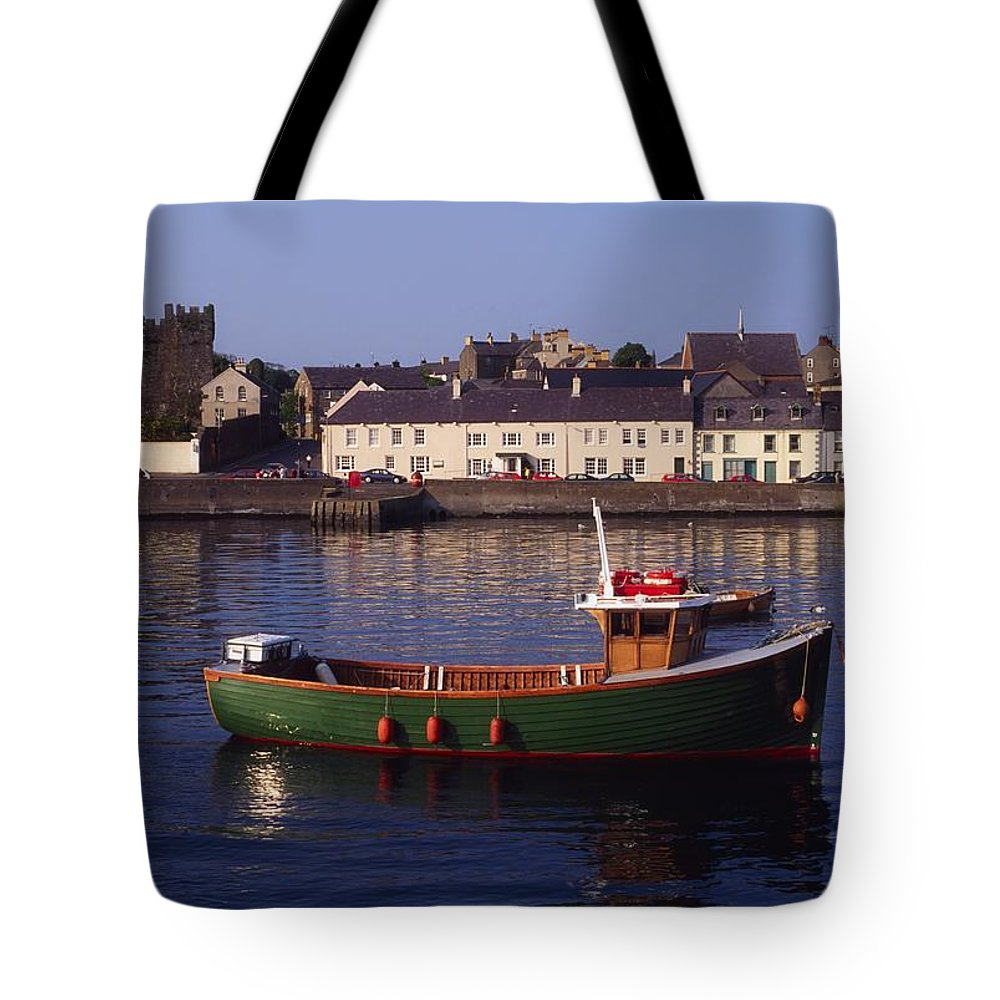 Ards Peninsula Tote Bag featuring the photograph Portaferry, Strangford Lough, Ards by The Irish Image Collection