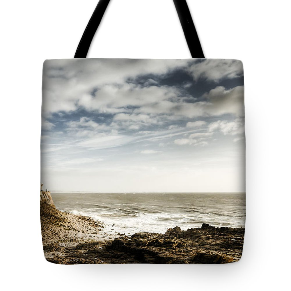 Porthcawl Pier Tote Bag featuring the photograph Porthcawl Pier by Steve Purnell