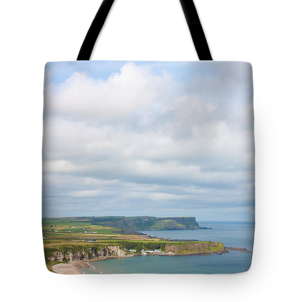 Beauty Tote Bag featuring the photograph Portrait View Of White Park Bay by Semmick Photo