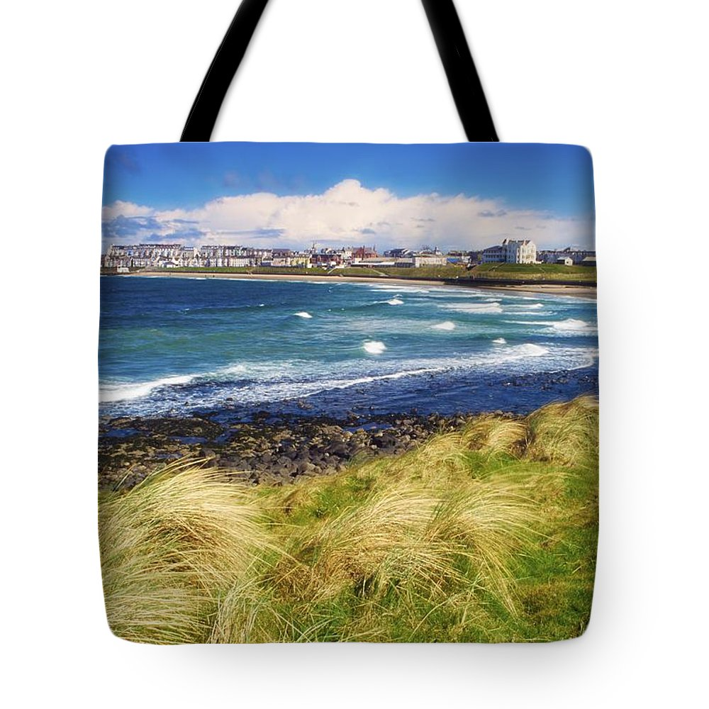Bay Tote Bag featuring the photograph Portrush, Co Antrim, Ireland Seaside by The Irish Image Collection