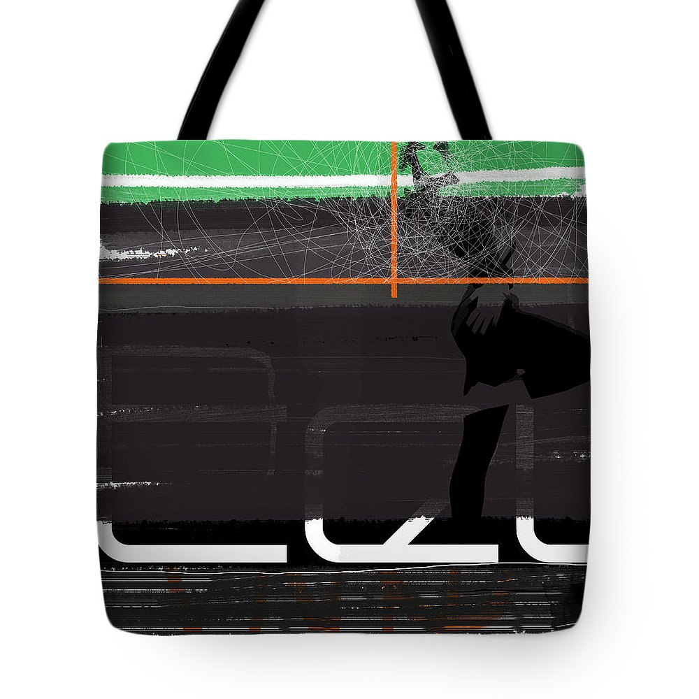 Expressive Tote Bag featuring the painting Pose by Naxart Studio