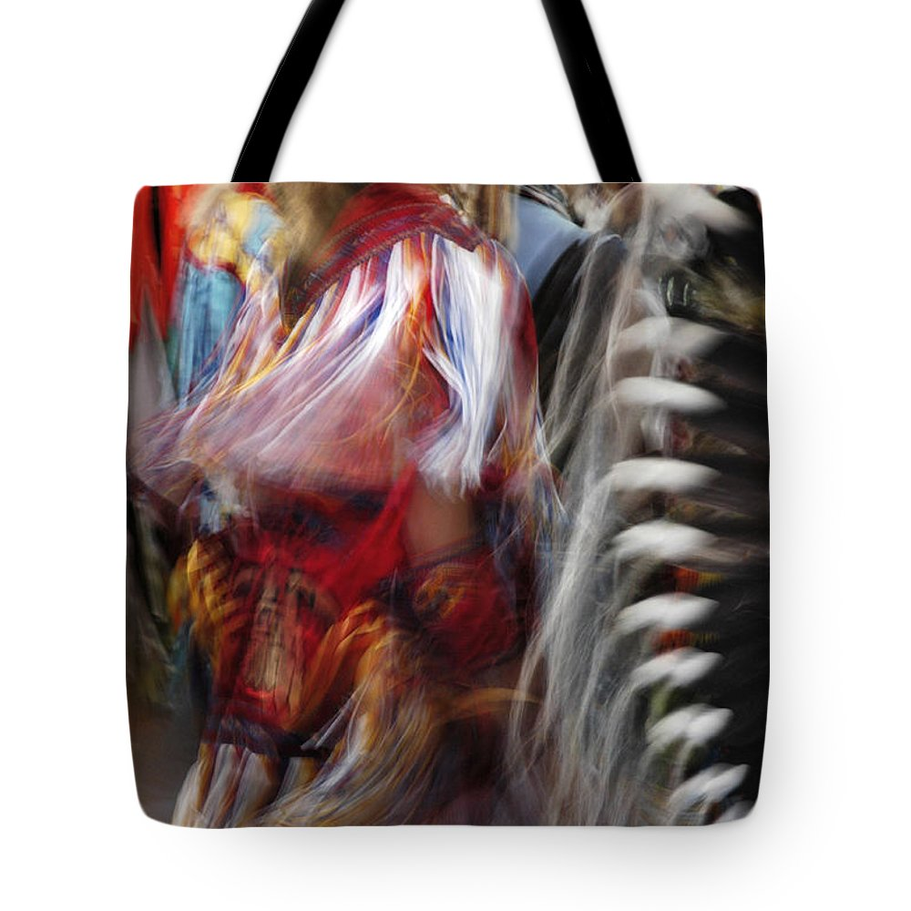 Pow Wow Tote Bag featuring the photograph Pow Wow Dancer by Vivian Christopher