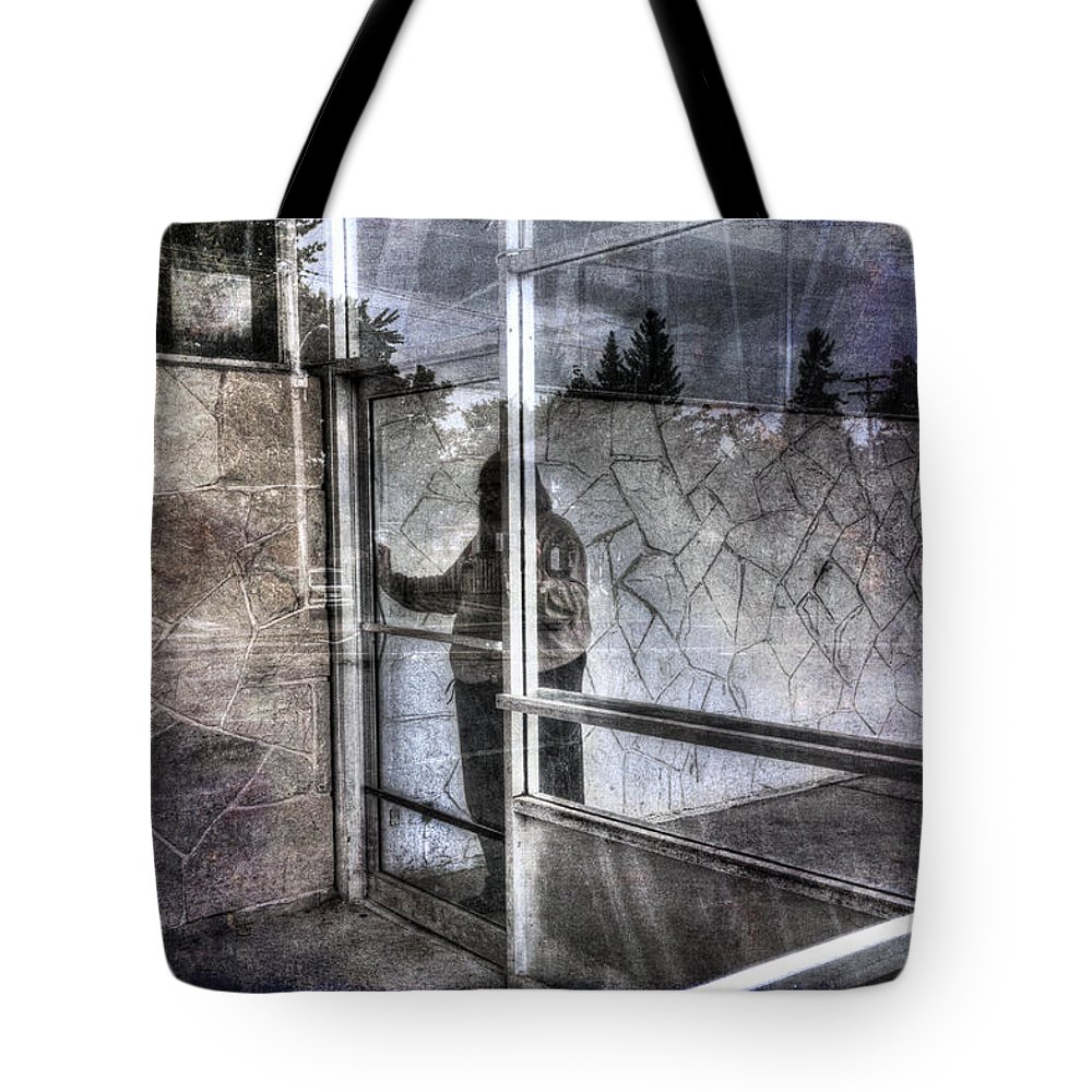 Acrylic Prints Tote Bag featuring the photograph Presant And Future Not Much To Choose Between by John Herzog