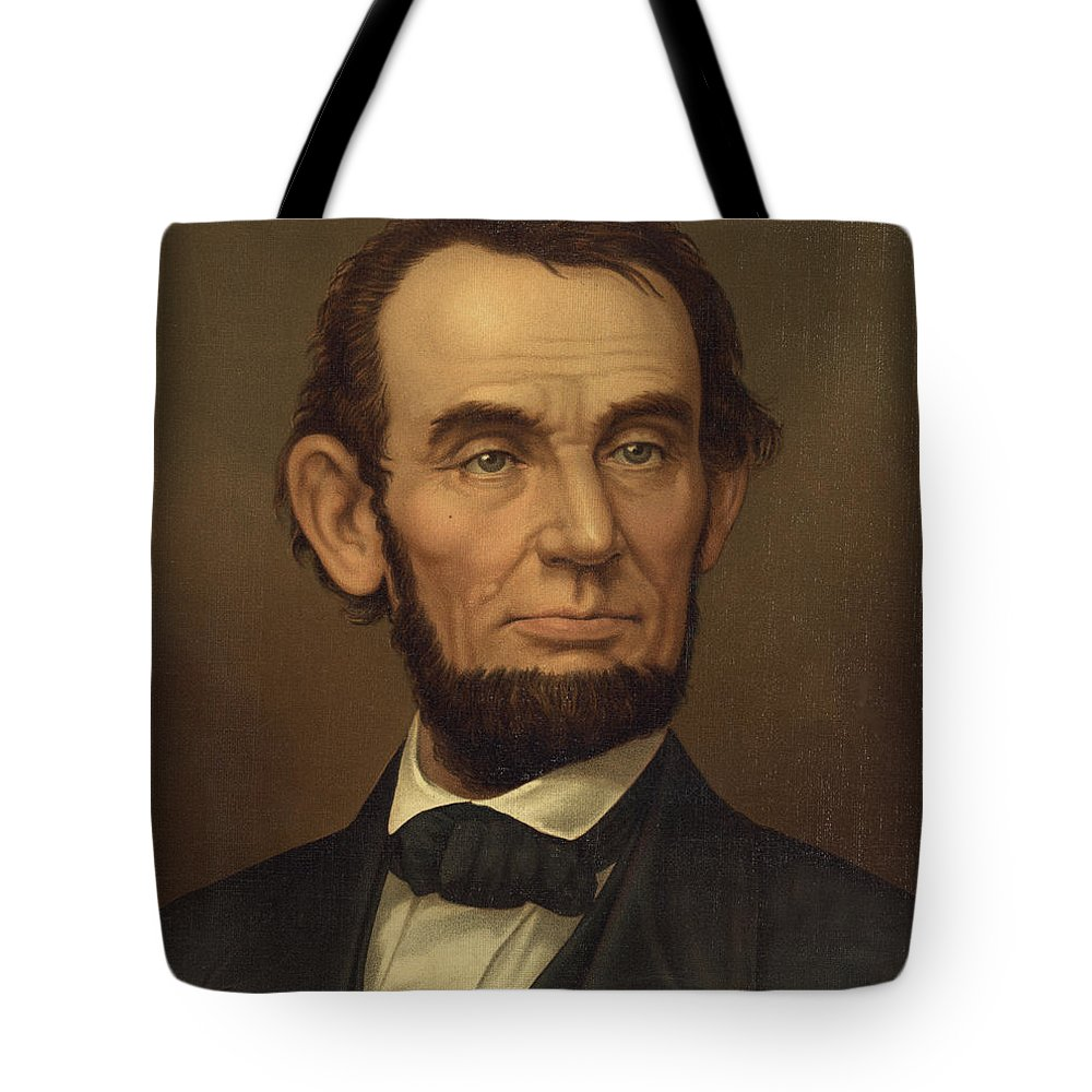 abraham Lincoln Tote Bag featuring the photograph President Of The United States Of America - Abraham Lincoln by International Images