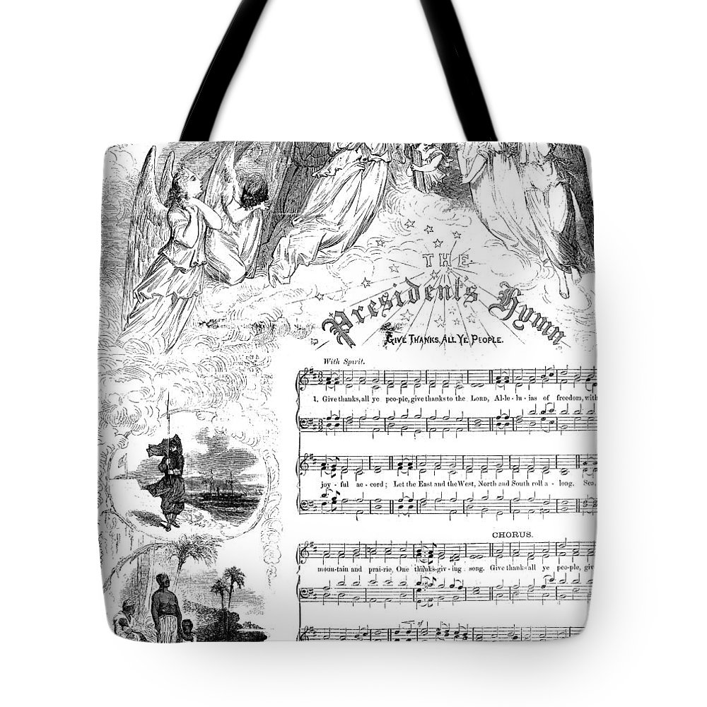 1863 Tote Bag featuring the photograph Presidents Hymn, 1863 by Granger