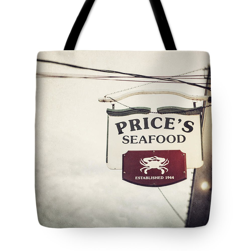 Price's Seafood Tote Bag featuring the photograph Price's Seafood by Lisa Russo