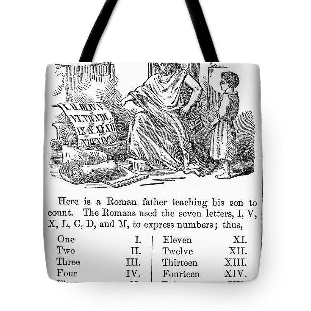 1845 Tote Bag featuring the photograph Primer: Roman Numerals by Granger