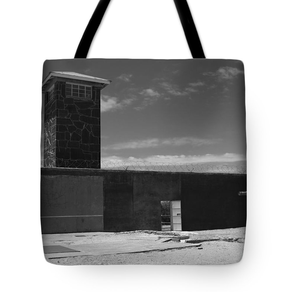 Robben Island Tote Bag featuring the photograph Prison Tower by Aidan Moran