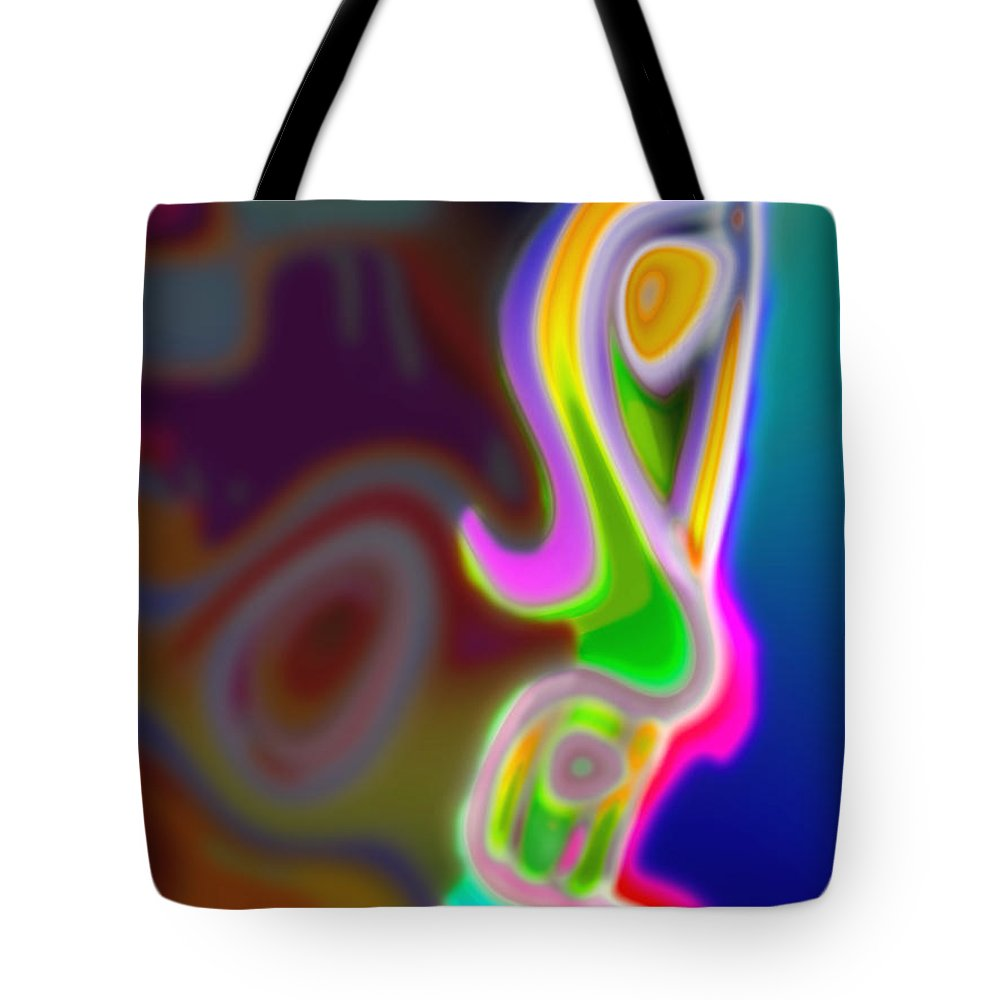 Face Tote Bag featuring the digital art Profile by Tom Hubbard